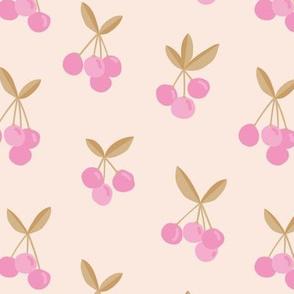 Little Cherry love garden for spring summer nursery design neutral creme pink cinnamon