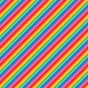 tiny rainbow stripes 2 diagonal