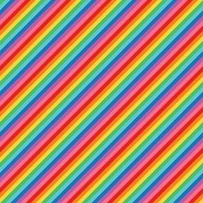 tiny rainbow fun stripes no2 diagonal