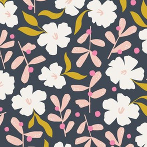 Stella's Garden Floral | Navy