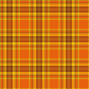 70s plaid orange