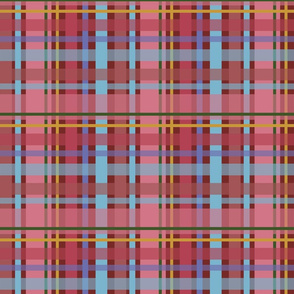 Red and Blue Spring Plaid