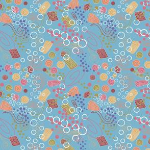 Spiral Candy Toss on Blue