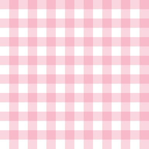 "1/2"" Gingham Check (carnation pink + white)"