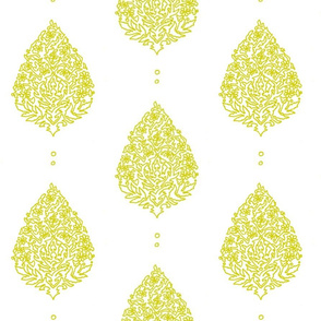 Moroccan Paisley - Chartreuse