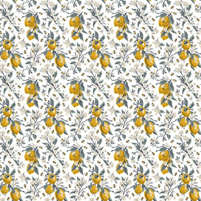 Bees & Lemons - Mini - White