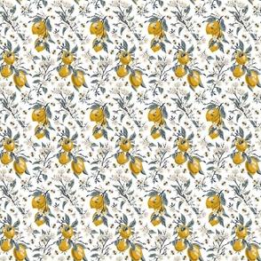 Bees & Lemons - Mini - White