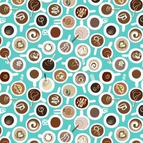 Micro Ditsy Coffee Mugs | Mint Green