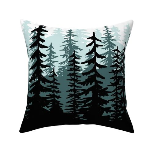Minty Pines Pillow