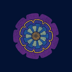 Wax print daisy - blue