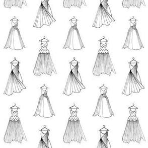 Dress Designs on white