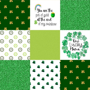 Lucky Mama Wholecloth Cheater Quilt - Rotated
