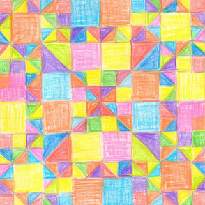 Bright children's geometric drawing