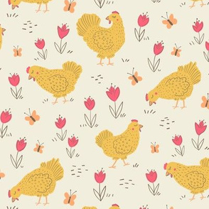 Happy Hens, Light, Large