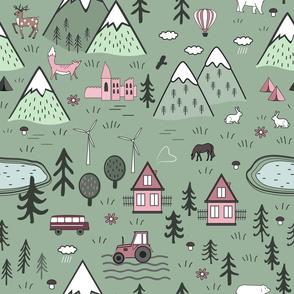 Nordic nature landscape
