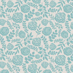 Baby Blue Floral Pattern