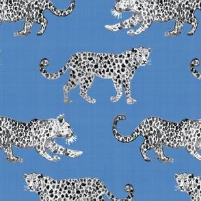 Leopard Parade Black and Santorini Blue