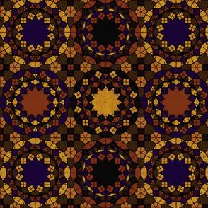 Autumn Textured Geometric Tile