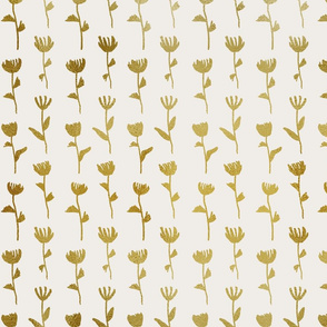 Gold Flower Pattern