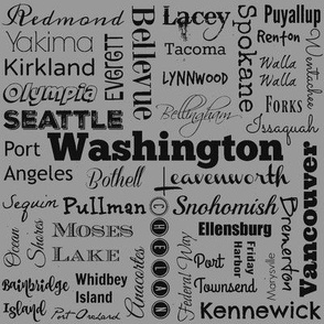 Cities of Washington, std gray