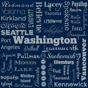 Cities of Washington, navy/gray