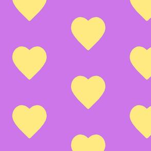 Lavender & Lemonade Hearts