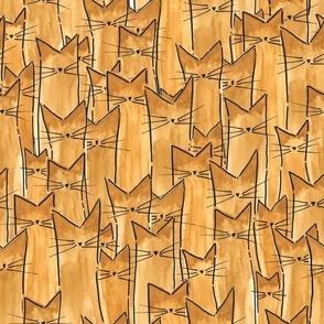cats - siamese cats watercolor