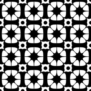 Flower and star geometric pattern