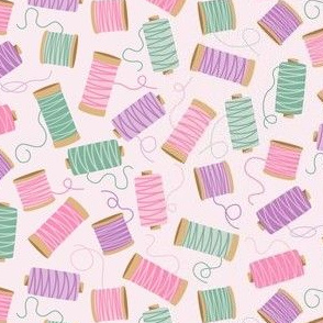 Ditsy cotton reel lilac
