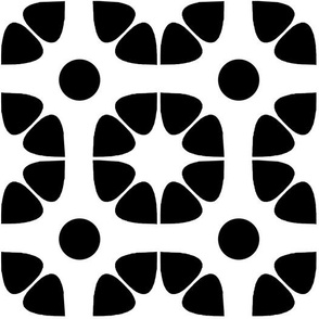 Geometric corner pattern