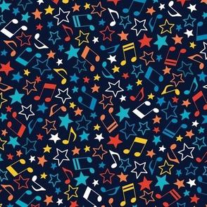 Rainbow stars on navy