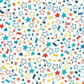 Roller stars on white
