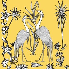 Batik Crane - Mating Dance