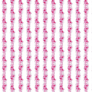 coral bubbly  stripes - pink SMALL 16