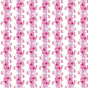 coral bubbly pineapple toss stripes - pink MED262