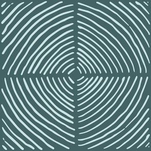hand drawn circle quadrants | pine and mint