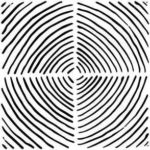 circle quadrants | large scale black on white