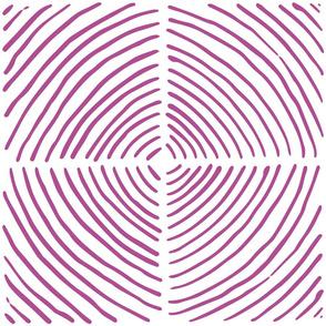 circle quadrants | large scale purple on white