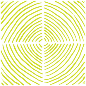 circle quadrants | large scale chartreuse on white