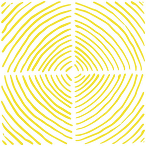circle quadrants | large scale large yellow on white