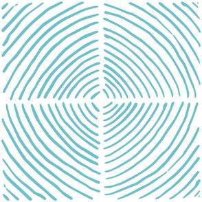 circle quadrants | large scale light blue on white