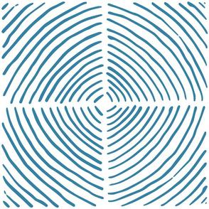 circle quadrants | large scale blue on white