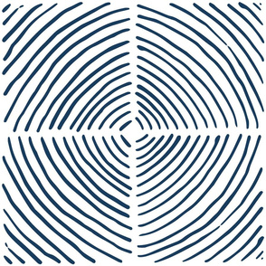 circle quadrants | large scale navy on white