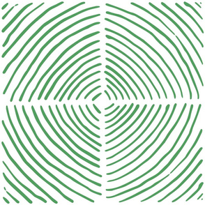 circle quadrants | large scale green on white