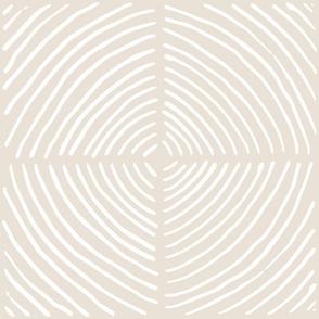 circle quadrants | large scale white on beige