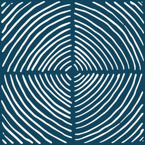 circle quadrants | large scale white on navy
