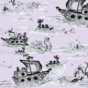 A Pirates Toile Lavender - Small