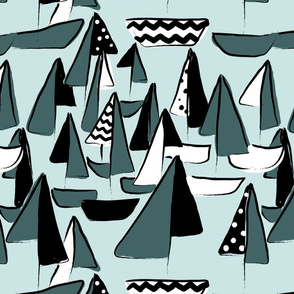Pine-and-Mint-Abstract-Boats
