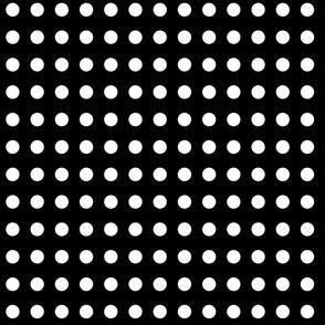 polka dots black and white