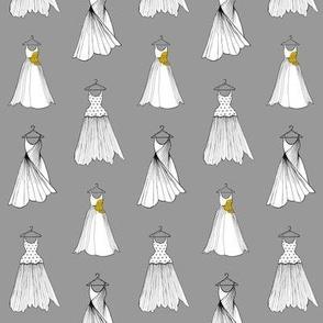 Dress Designs on Grey